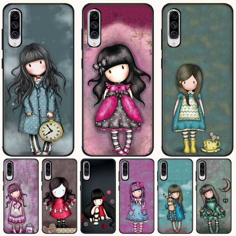 Cartoon Lovely Santoro Black TPU Soft Rubber Phone Cover For <font><b>Samsung</b></font> A6 6S 6Plus 7 720 <font><b>750</b></font> 8 8 PLUS 9 920 <font><b>2018</b></font> A8 A9STAR image