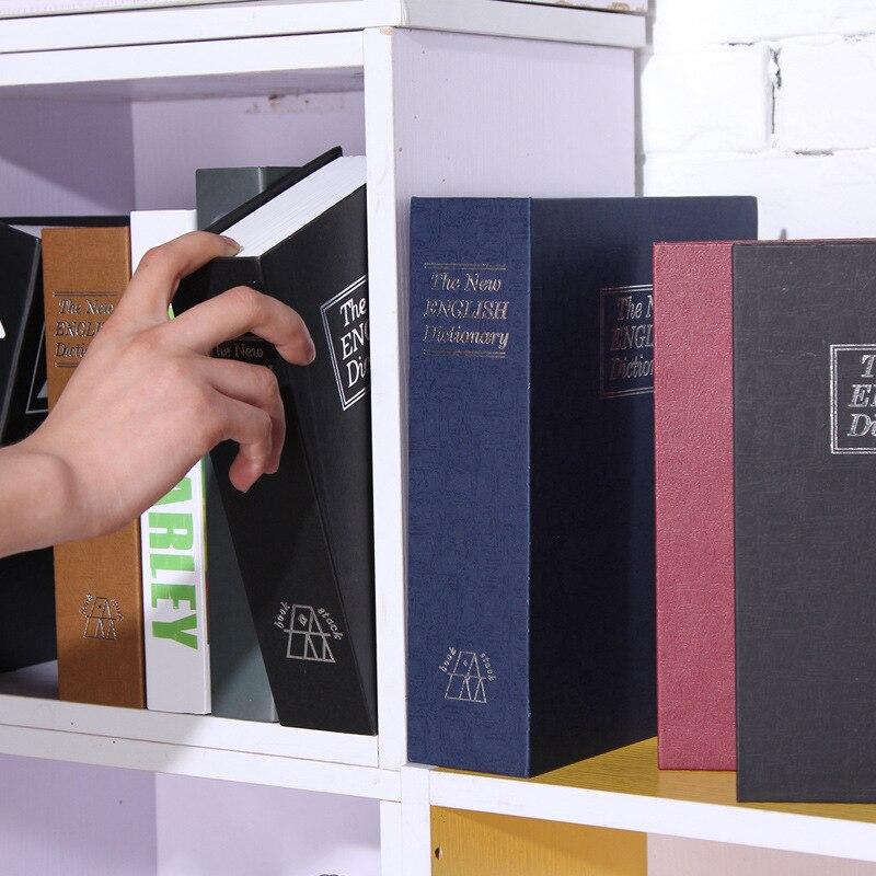 livros mealheiro cofre caixa com bloqueio organizador 01