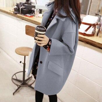 Women's Coats Women Winter Fashion Slim Long-sleeve Casual Medium Long Coat Slim Button Chaqueta de mujer Abrigo de invierno