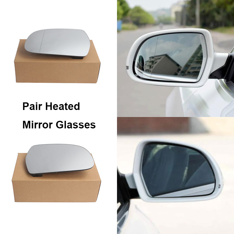 Right Driver Side Heated Electric Wing Mirror Glass for SEAT ALTEA 2004-2008