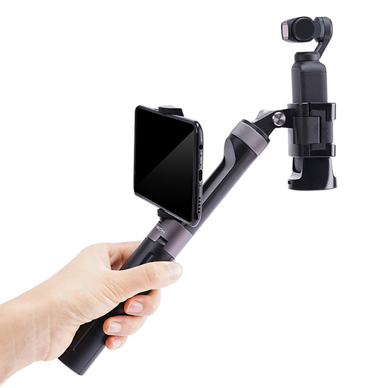 Extension Rod Osmo Pocket Hand Grip Tripod Pole Handle Phone Holder For DJI Osmo Action Gopro 6 7 Accessories