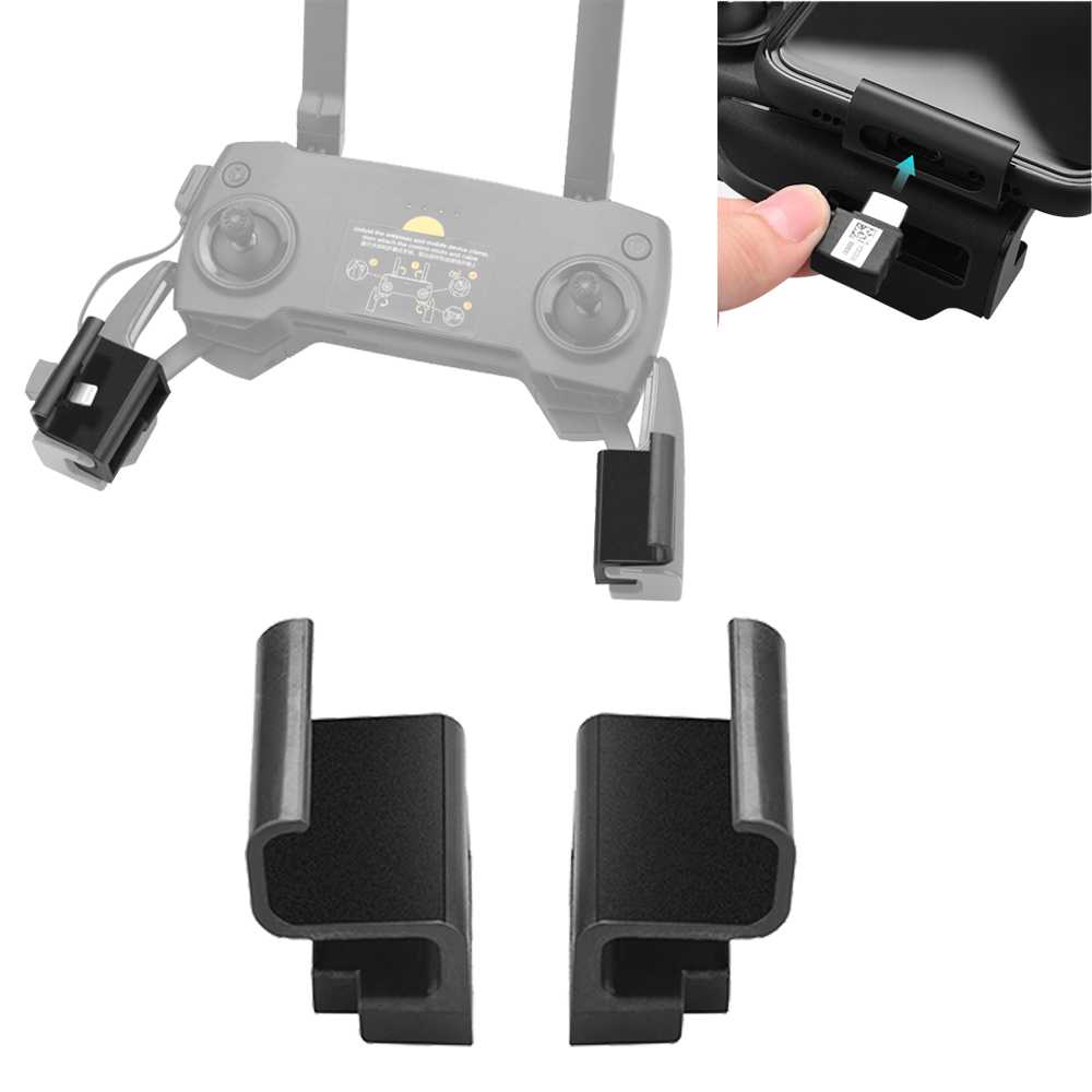 Phone Mount For DJI Mavic Mini Pro Air Spark Mavic 2 Zoom Drone Remote Control Clamp Clip Bracket Stable Phone Holder Accessory