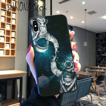 Newest Space Moon Astronaut Coque Shell Phone Case For iPhone 8 7 6 6S Plus X XS MAX 5 5S SE XR 11 11pro promax Cellphones newest space moon astronaut coque shell phone case for iphone 8 7 6 6s plus x xs max 5 5s se xr 11 11pro promax cellphones