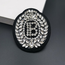 Parches de diamantes de imitación hechos a mano en 3D letra B C R T corona boca araña indio perla de cristal a rayas parche de bricolaje para ropa zapatos sombrero bolsa apliques accesorios decorativos lujo mochila