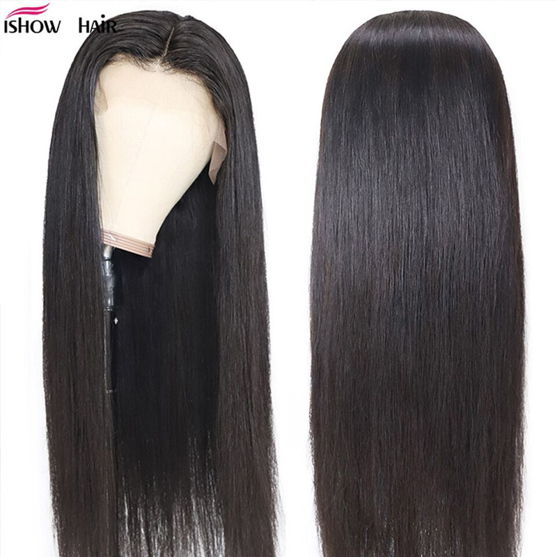 Ishow 250% Density Straight Lace Front Human Hair Wigs For Women Malaysian Straight Lace Front Wigs Straight Human Hair Wigs