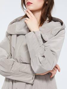 Astrid 2020 новый весенний модный длинный плащ с капюшоном высокое качество городская женская верхняя одежда трендовая Свободная куртка тонкое ...