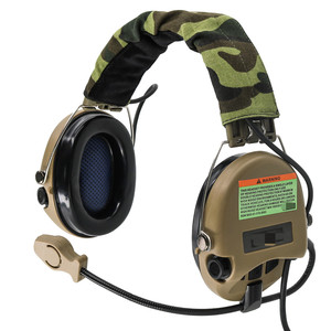 Image 5 - Tactical Softair Sordin Headset Pickup noise canceling headphones Hunting Airsoft Hearing protection Headphone DE
