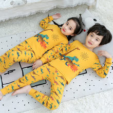 Crianças pijamas meninos dos desenhos animados dinossauro pijamas crianças meninas algodão pijamas crianças pijamas natal família pijama para crianças