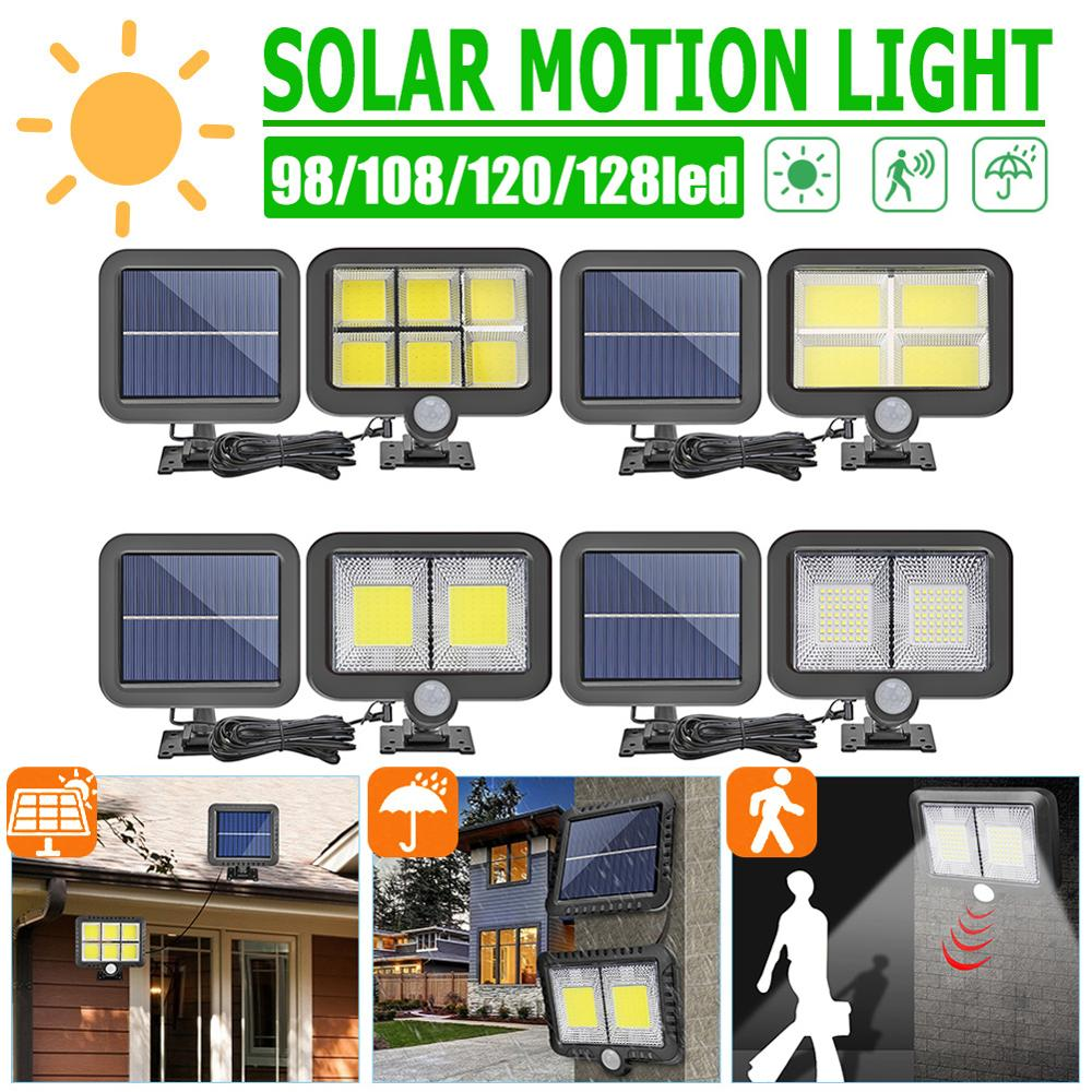 COB 3 Modes 128 LED Soalr Light Motion Sensor Solar Wall Light Outdoor IP65 Waterproof Night Light Split LED Lamp Solar Charge