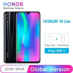 Перейти на Алиэкспресс и купить original global version honor 10 lite 32gb smartphone octa core 6.21дюйм. 2340x1080p 24mp front camera android 9.0