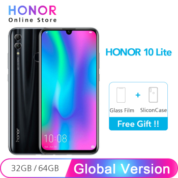 "Original Global Version Honor 10 Lite 32GB Smartphone Octa Core 6.21"" 2340X1080P 24MP Front Camera Android 9.0"