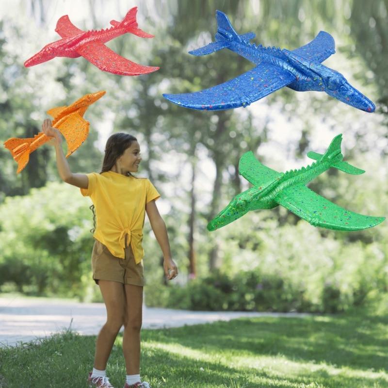 Динозавр форма планер инерция самолет пена самолет игрушка ручной запуск открытый игрушка с карусель трюк