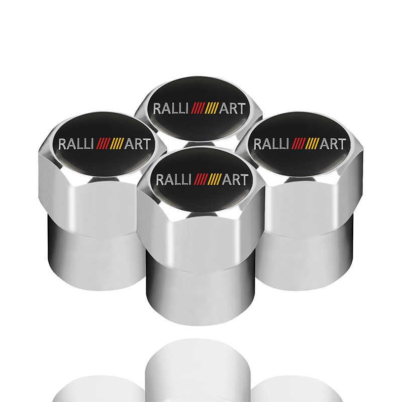 Auto Styling Wiel Caps Ventieldopjes Voor Ralliart Logo Voor Mitsubishi Lancer Asx Outlander Pajero Carisma L200 Galant Evo colt