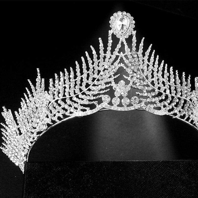 HG11110 Bridal wedding headpiece european and american hairpiece crystal wedding crown tiara hair accessory for bride