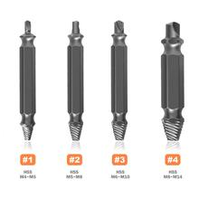 цена на 4pcs/set Material Damaged Screw Extractor Drill Bits Guide Set Broken Speed Out Easy out Bolt Stud Stripped Screw Remover Tool