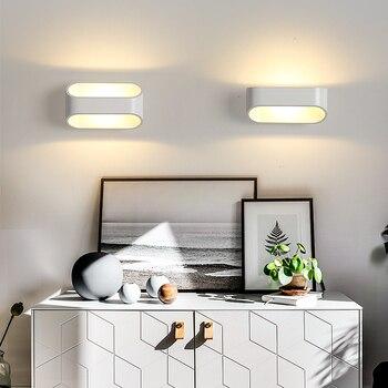 NEO Barlume Bianco Finito Moderna lampada da parete a led luci per camera  da letto comodino corridoio Salotto di Casa Deco Applique da parete di ...