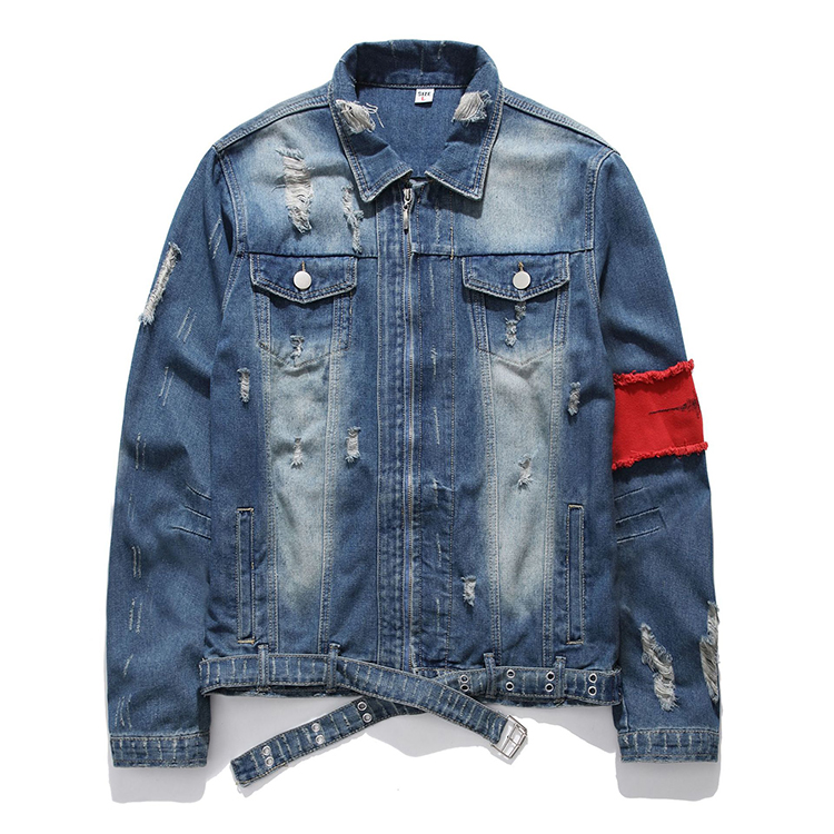 H480c2eed8d3f405c98a7a5205d7c1049u Men's Jean Jackets Streetwear Hip Hop Bomber Jacket  Denim Jacket Men Brand  Ripped Denim Jackets Casual Fashion Coat