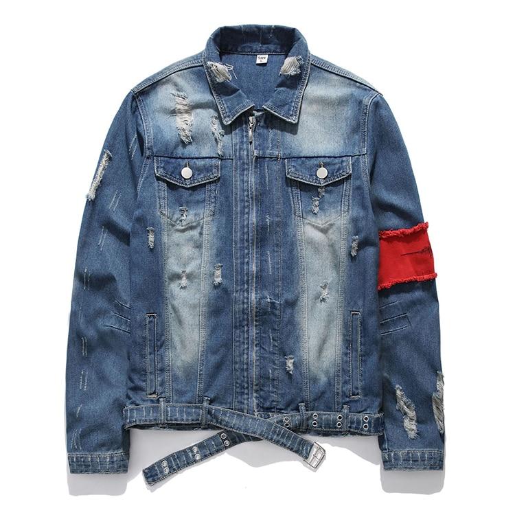 H480c2eed8d3f405c98a7a5205d7c1049u Men's Jean Jackets Streetwear Hip Hop Bomber Jacket Denim Jacket Men Brand Ripped Denim Jackets Casual Fashion Coat