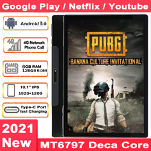 Newest PUBG Games Support 5G WIFI 1920*1200 2.5K IPS 10 Cores tablet 6+128GB Netflix 10 inch планшет Планшеты Tablette Android