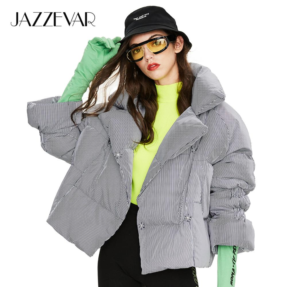 JAZZEVAR 2019 Winter New Arrival Women Down Jacket Loose Clothing Outerwear High Quality Short Style Winter Coat For Women Y9031