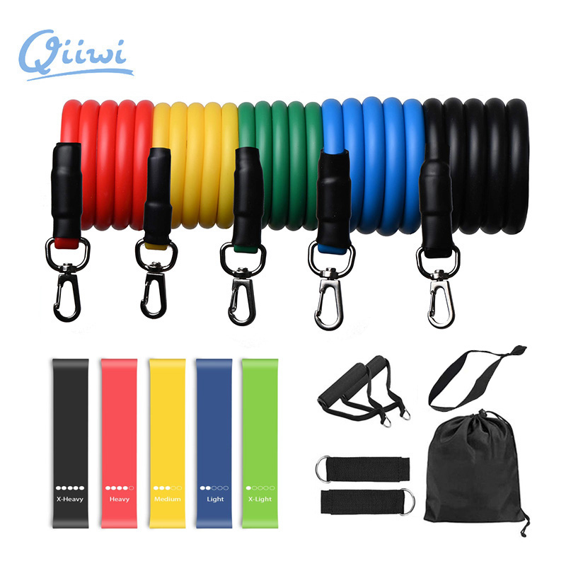 Dr.Qiiwi Rubber Loop Bands Training Workout Elastic Resistance Bands Set For Yoga Stretching Physical Therapy Fitness Equipment