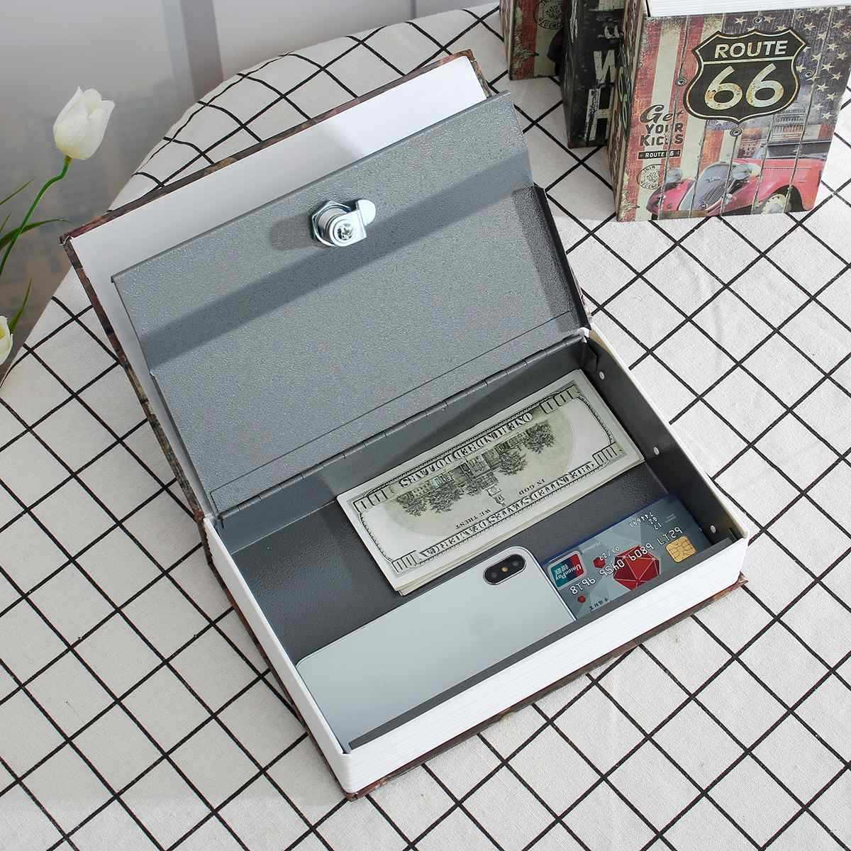 Hộp An Toàn Sách Tiền Bí Mật Bảo Mật An Toàn Khóa Hộp Sách Tiền Mặt Đồng Tiền Bảo Quản Trang Sức Phím Khóa Bình Trữ