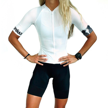 цена на trespinas Cycling Suit woman Team Cycling Jersey Set summer Short sleeve shirt bicycle shorts MTB Racing Ropa Ciclismo quick-dry