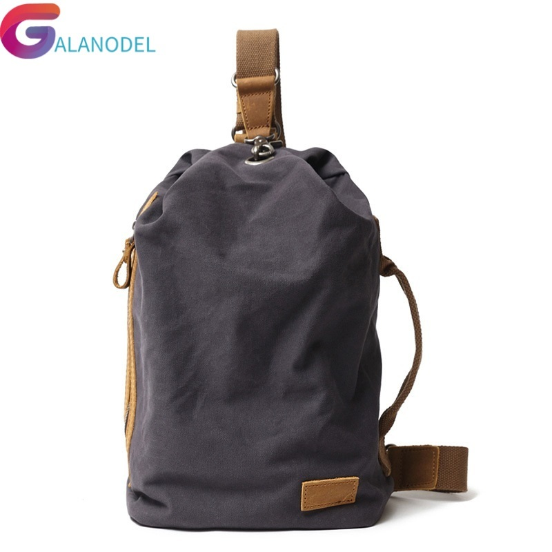 Sac nouveau Portable toile hommes poitrine Pack Crossbody M288 sac à dos voyage décontracté sac de poitrine petits sacs à bandoulière hommes épaule sac à dos