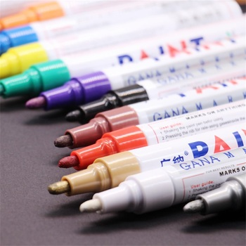 colorful Waterproof pen Car Tyre Tire Tread CD Metal Permanent Paint markers Graffiti Oily Marker Pen marcador caneta stationery - discount item  39% OFF Pens, Pencils & Writing Supplies