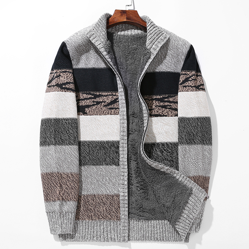 ICPANS Plus Size L-6XL Winter Sweaters Man Lamb Cashmere Cardigans Men Cotton Polyester Coat Thicken Warm Cardigan Male 2019