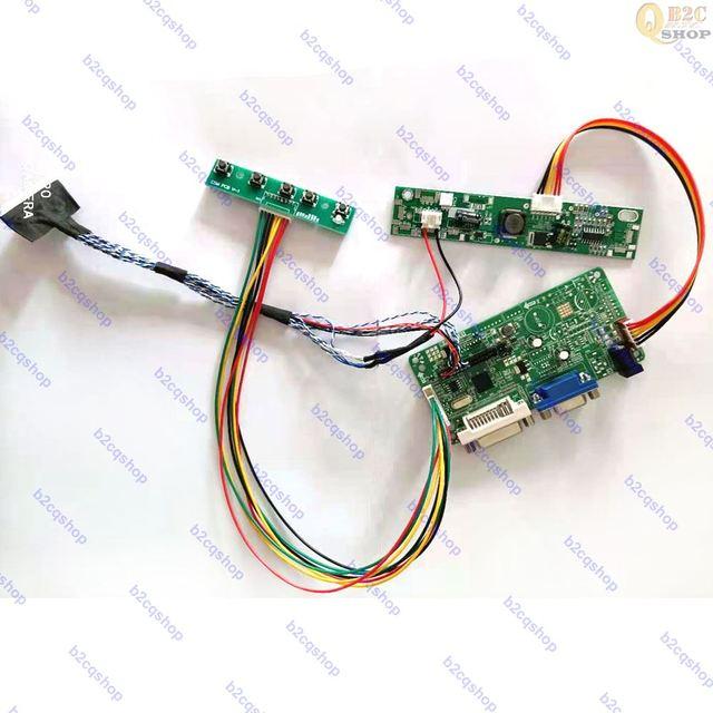LCD Controller Board DIY Kit VGA/DVI converter Driver LVDS Inverter   Turn LCD for NL10276BC24 19D 1024X768 to Monitor