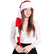 Unisex Red And White Striped Fashion Christmas Decoration Creative Comfortable Long Plush Hat spiral style plush christmas hat red white