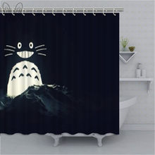 Aplysia Black Shower Curtain 3D Totoro Design Waterproof Fabric Shower Curtain Bathroom Decor With Hooks(China)