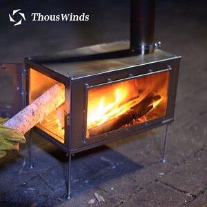 Image 3 - Уличная Ультралегкая деревянная плита Thous Wind из титанового сплава, многофункциональная палатка для кемпинга, нагревательная плита для выживания на природе