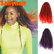 Sallyhair 18 #8243 Marley Braids Hair Crochet Hair Bulk 20 Stands Afro Synthetic Ombre Braiding Hair Extensions For Black Women Braids cheap High Temperature Fiber CN(Origin) 1strands pack