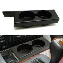 Car Cup Holder For BMW E39 5 Series 525i 528i 530i 540i M5 1997 2003 Plastic Black Portable Front Drink Holder Car Accessories