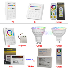 Miboxer FUT103/FUT104 4W GU10 MR16 RGB+CCT LED Spotlight AC110V 220V FUT089/FUT092/B8/B4/T4/WL-Box1/iBox2 2.4G Remote controller