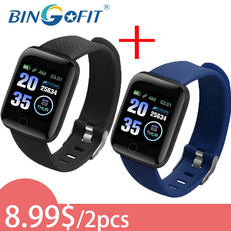 Bingofit 116 Plus Smart Horloge 8.99 $/2Pc Vrouwen Mannen D13 Smartwatch Voor Ios Android Elektronica Fitness Tracker met Siliconen Band