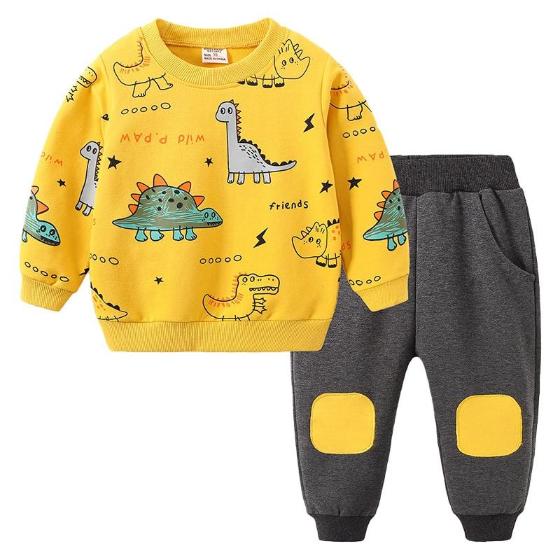 Newborn Kids boys clothes set long sleeves Baby boy tops +pants 2pcs fashion toddler baby clothing 2