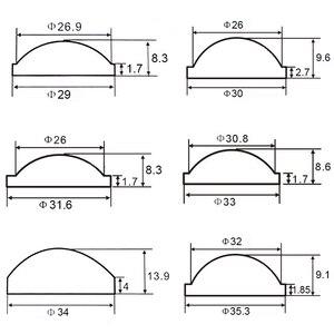 Image 4 - 2 шт., 20 мм, 23 мм, 25 мм, 28 мм, 36 мм, 42 мм, 45 мм, 50 мм, объектив PMMA для Q5 R2, R5, XM L, XM L2, T6, U2, U3 Zoom, светодиодный фонарик для велосипеда