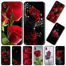 Rose love red flower painting Coque Shell Phone Case For