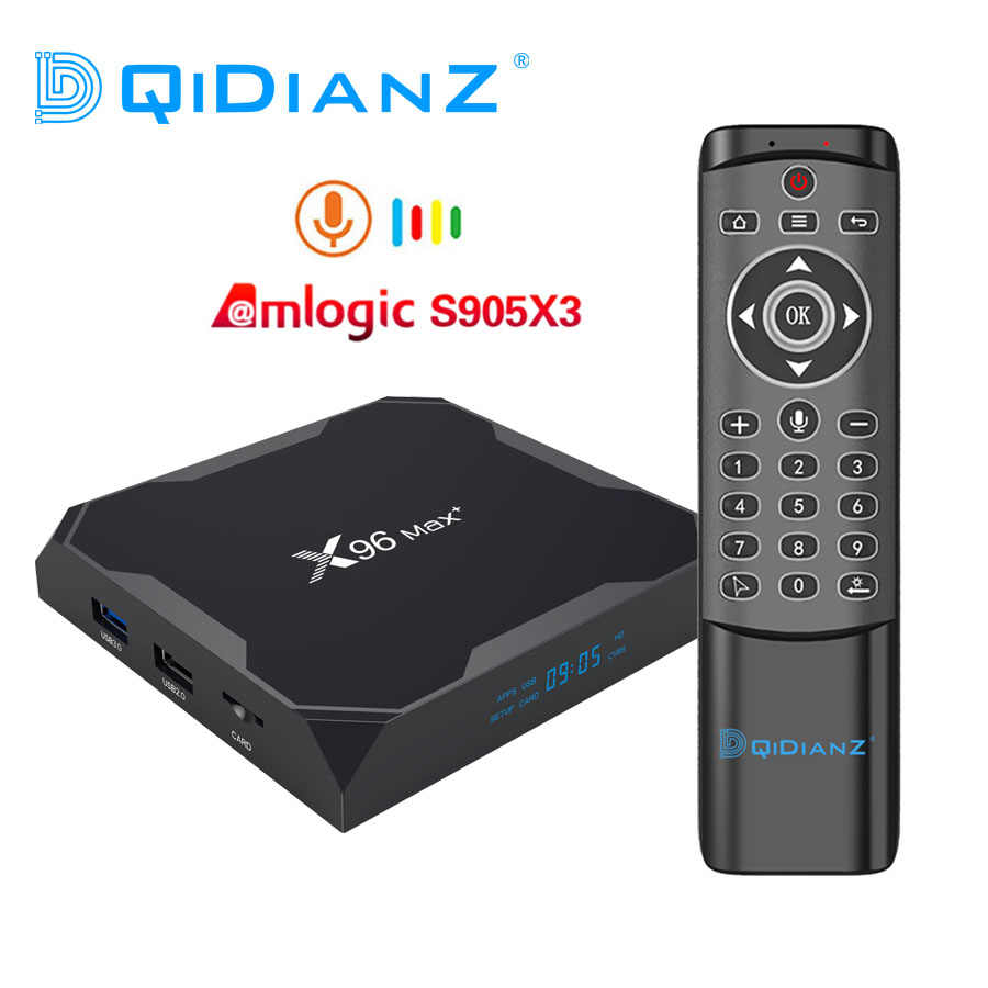 DQiDianZ X96max Plus Android 9.0 smart tv box Amlogic S905X3 czterordzeniowy 2.4G i 5G wifi BT X96 max multimedialny dekoder
