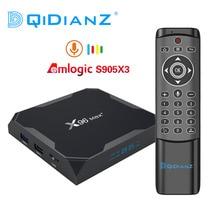 Приставка Смарт ТВ DQiDianZ X96max Plus, Android 9,0, четырехъядерная Amlogic S905X3, 2,4 ГГц и стандартная Wi Fi BT X96 max, мультимедийная ТВ приставка