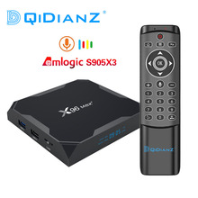 Dqidianz X96max Plus Android 9.0 Smart Tv Box Amlogic S905X3 Quad Core 2.4G & 5G Wifi Bt X96 max Multimedia Set Top Box