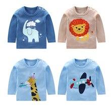 T-Shirt Kids Clothing Baby-Boy-Girl Cotton Cartoon Summer Animal Tee for Size 1-2-3-4-Year
