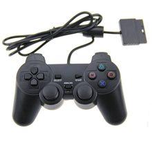 Mando con cable para PS2-mando con vibración para Playstation 2 color negro