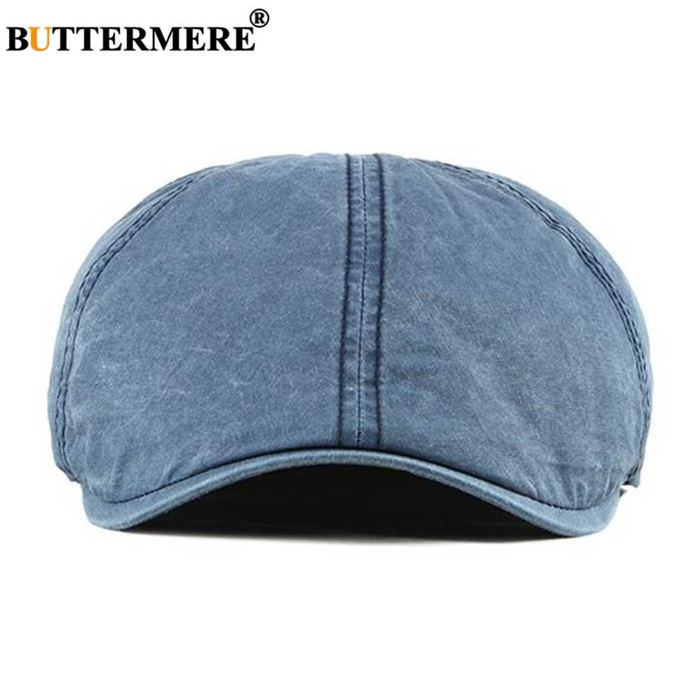 BUTTERMERE כחול Newsboy כובע כותנה Mens כומתות אביב קיץ רטרו נהג המוני זכר שטוח כובע באיכות גבוהה נהג מקור ברווז כובע