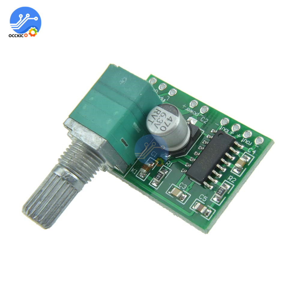 PAM8403 Digital Audio Amplifier Board Dual Channel DC 5V 3Wx2 With Potentiometer Switch Volume Control Stereo USB Power