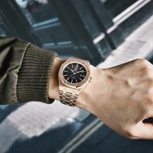Image 3 - Benyar メンズ腕時計トップブランドの高級ゴールド腕時計メンズスポーツ軍事腕時計男性クォーツビジネス腕時計レロジオ masculino 2019