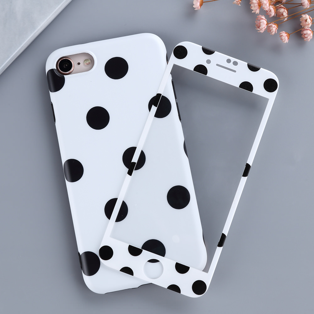L-FADNUT Screen Protector Cute Phone Case For iPhone X Xr Xs Max <font><b>360</b></font> Girls Bumper For 6 <font><b>6S</b></font> 7 8 Plus Tempered Film Women Cover image